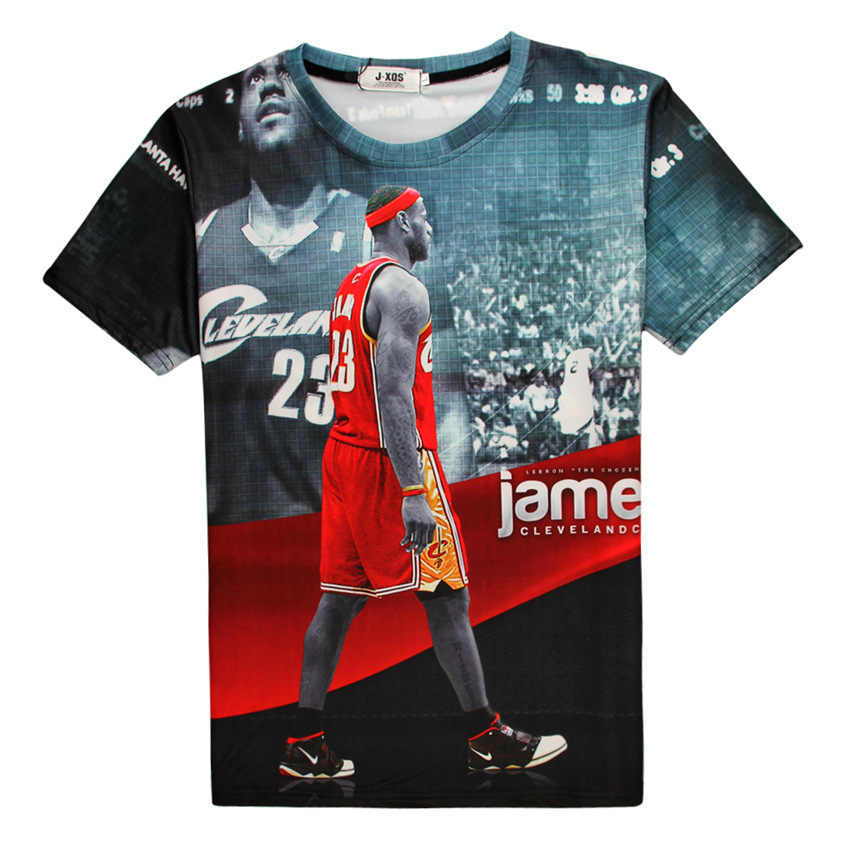 hot sale online c6446 c8535 Summer Style Printed Lebron James Star Red Graphic 3D T ...