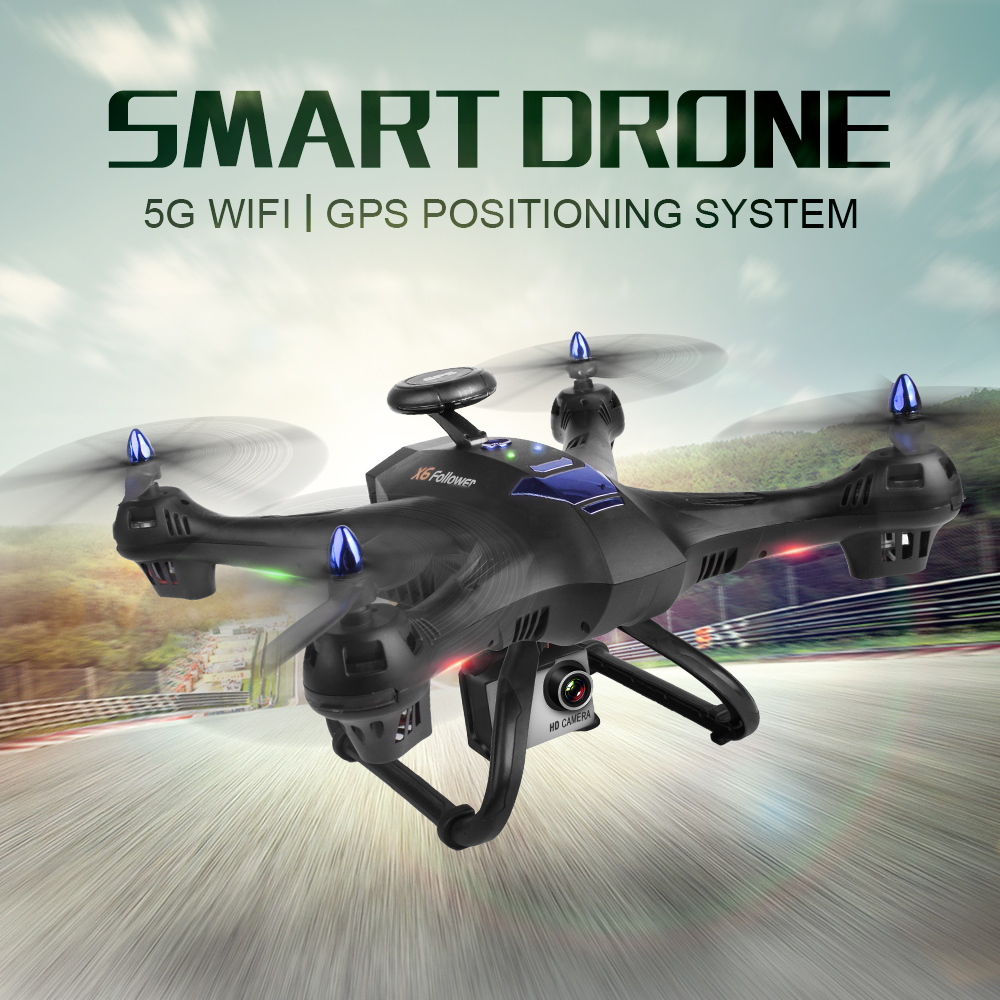 Drone GPS X183 5G WiFi Professional Dual GPS Follow Me Quadrocopter with Camera HD RTF FPV GPS Helicopter RC Quadcopter VS X8PRO радиоуправляемый квадрокоптер pilotage hawk fpv gps и follow me электро rtf rc60408
