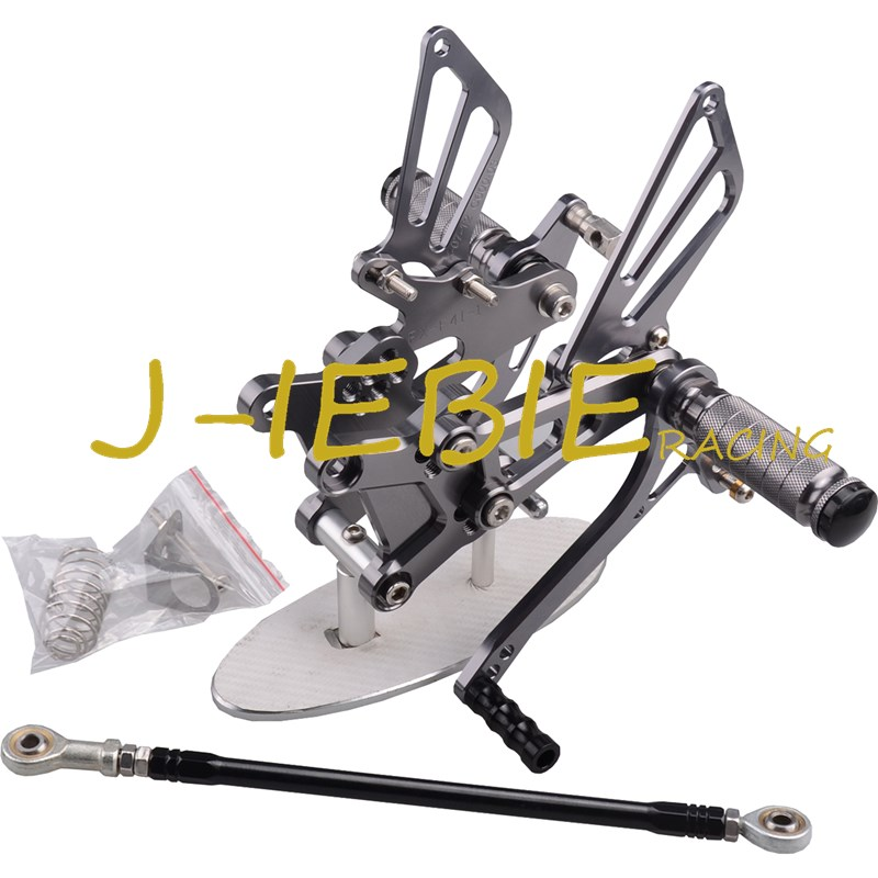 CNC Racing Rearset Adjustable Rear Sets Foot pegs Fit For Honda CBR600 CBR 600 F4 F4I 1999- 2006 TITAINUM free shipping brass bath pop up drain rotable bathroom tub sink waste drainer bathtub drain