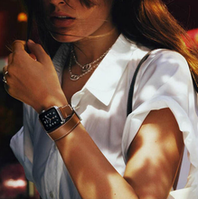 Смотреть band Для Apple Watch Оригинал 1:1 современные Пряжка кожаный ремешок Подлинная Для apple watch + Бесплатная ПРОТЕКТОР ЭКРАНА