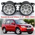 Для Suzuki Grand Vitara 2 JT 2005-2015 стайлинга Автомобилей передний бампер СВЕТОДИОДНЫЕ противотуманные фары высокой яркости противотуманные фары 1 компл.