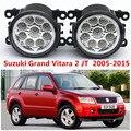 Para suzuki grand vitara 2 jt 2005-2015 estilo do carro amortecedor dianteiro faróis de neblina led alto brilho faróis de nevoeiro 1 conjunto