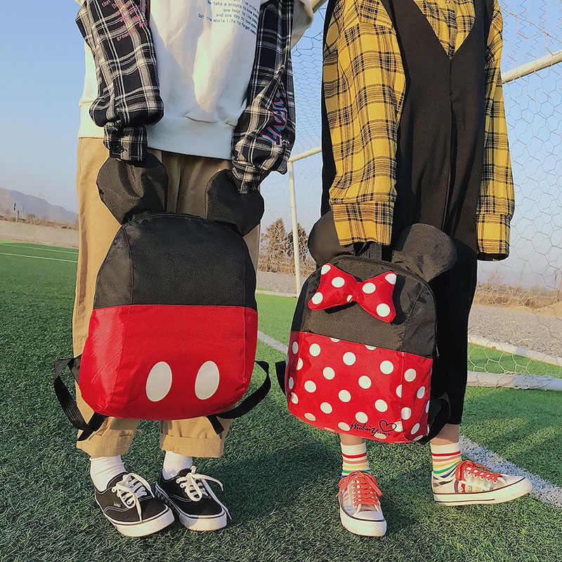 Холщовые женские дизайнерские рюкзаки с героями мультфильмов, водонепроницаемая большая дорожная сумка, рюкзак в консервативном стиле с милым бантом для девочек, забавные сумки