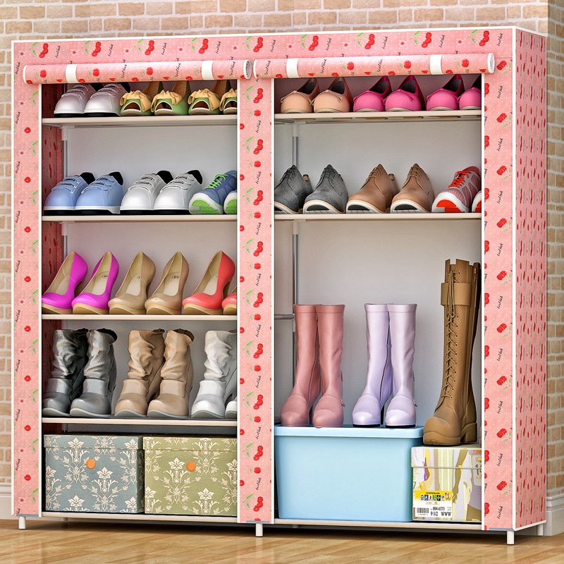 5-layers 8-grid shoes cabinet simple fashion Non-woven fabric shoe rack organizer removable shoe storage for home furniture