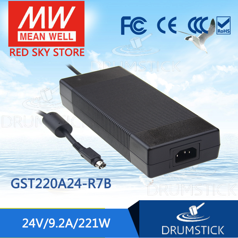 leading products MEAN WELL GST220A24-R7B 24V 9.2A meanwell GST220A 24V 221W AC-DC High Reliability Industrial Adaptor [Hot7] 1mean well original gsm160a24 r7b 24v 6 67a meanwell gsm160a 24v 160w ac dc high reliability medical adaptor