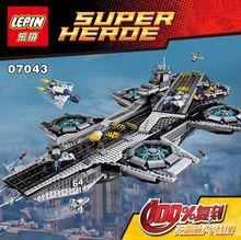 3057 Unids Super Heroes El ESCUDO Helicarrier Kits de Edificio Modelo Bloques  Ladrillos Juguetes brinquedos