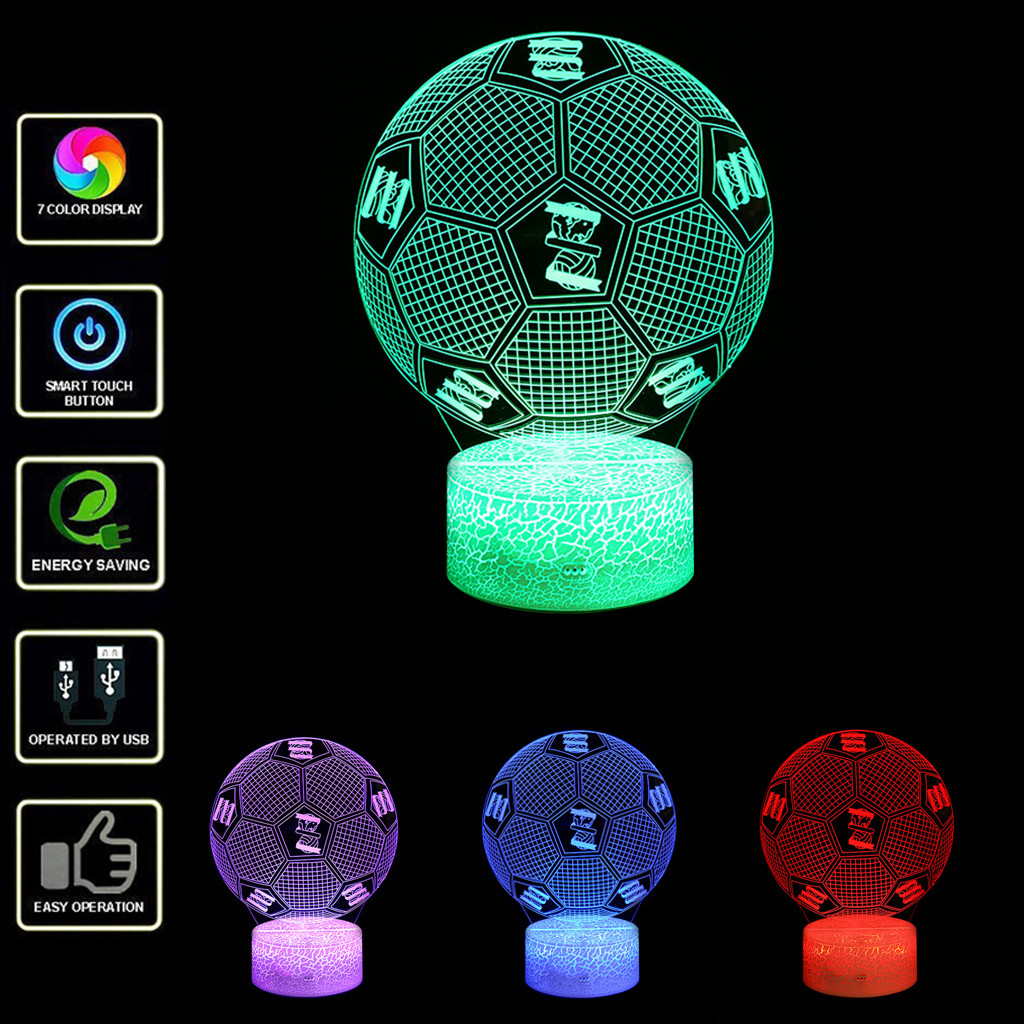 Convenient Led 3d Lighting Optical Illusion Desk Night Light With 7 Color Variable Multifunctional Bedroom Decorative Lights