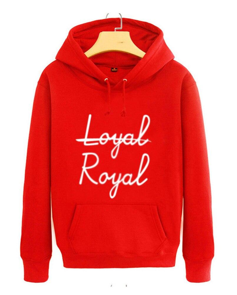 Autumn spring new arrival kpop bangtan boys stage same hoodie loyal royal printing pullover sweatshirt men women