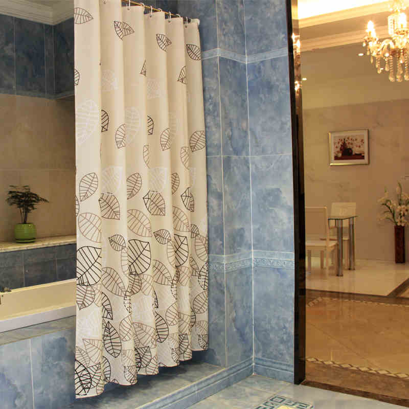 New Bathroom Polyester Fabric Print Leaves Style Shower Curtains Liner Waterproof Washable Bath Curtains New Bathroom Polyester Fabric Print Leaves Style Shower Curtains Liner Waterproof Washable Bath Curtains