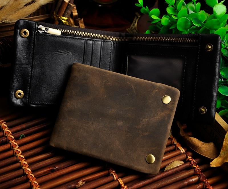 vintage couro genuíno carteira de Material do Forro : Algodão Orgânico