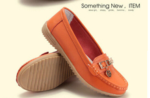 Autumn winter fashion Genuine Leather driving single female comfortable leisure shoes women's shoes with flat sole