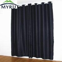 MYRU новые черные шторы полное затенение Тепловая Изолированная затемненная занавеска для ребенка и сдвига работы человека, 8 цветов