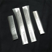 For Chevrolet Trax Inner Door Sill For 2013 2014 2015 2016 Stainless Steel Silver Logo Scuff