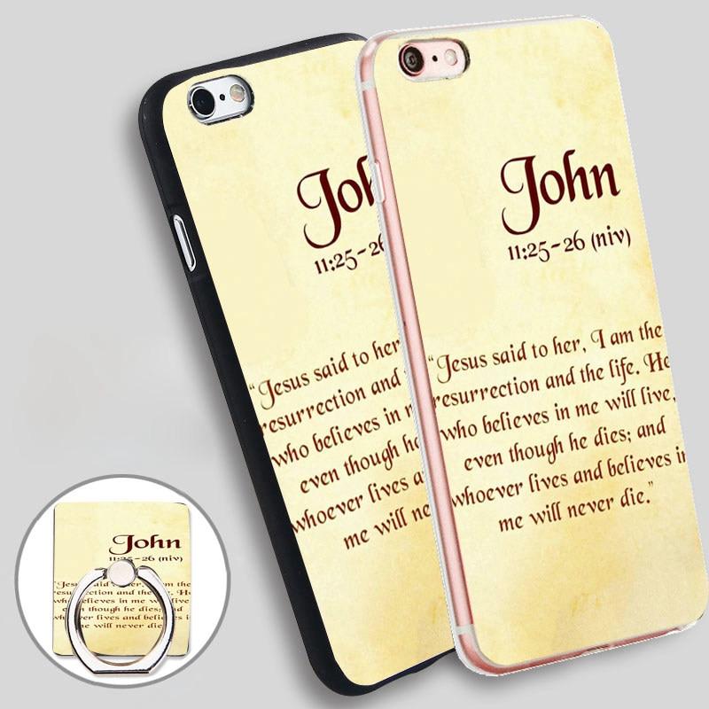 Иисус Христос Крест Телефон Держателя Кольца Мягкие TPU Silicon Case Cover для iPhone 4 4S 5C 5 SE 5S 6 6 S 7 плюс