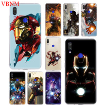 TPU Silicome Phone Case For Xiaomi Redmi 4 4A 4X 5 5A 6 6A 7 Pro Gift Art Patterned Customized Cases Cover Iron Man Marvel Hero