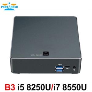 Image 5 - Partaker B3 Mini PC 8th Gen Intel Core i7 8550U i5 8250U dört çekirdekli DDR4 mini pc palmiye mini bilgisayar HDMI c tipi 4 ghze kadar