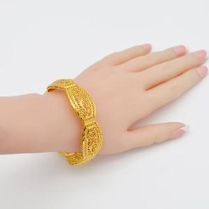 Image 3 - Anniyo 4Pieces/Openable Dubai Bangles Ethiopian Bracelets&Bangles for Women African Wedding Jewelry Arabic Middle East #208406