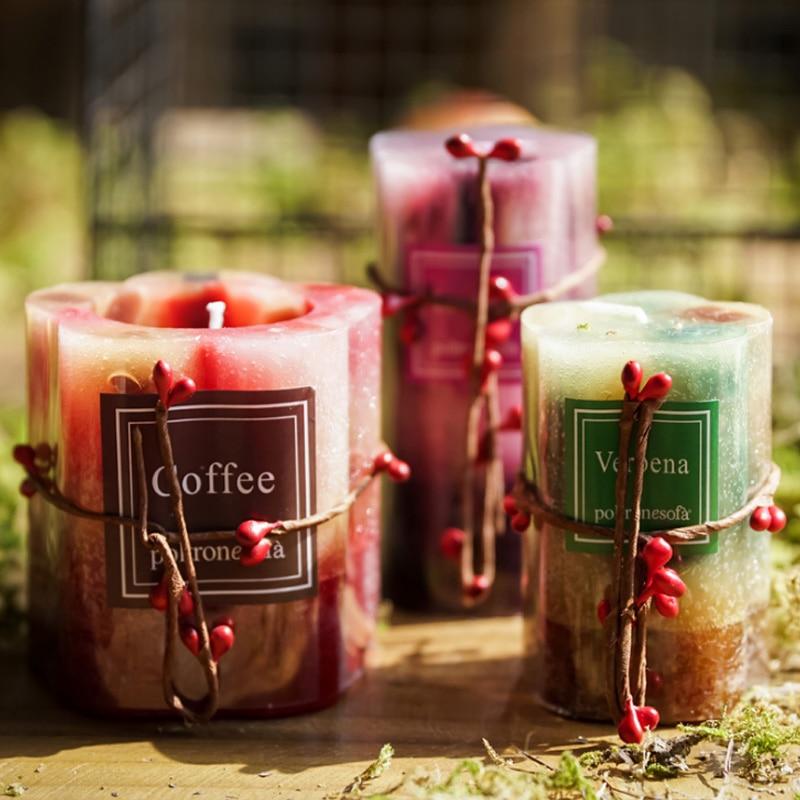 Sin Humo vela de té de pétalo de La Flor de cera de la soja Natural puro paisajismo Material de grado de té de vidrio sostenedor de vela