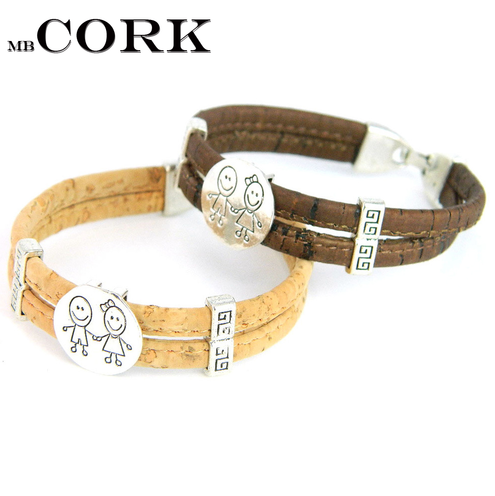 MB Cork Portuguese cork crafts Cork bracelets, cute boy and girls natural  soft, original, fine jewelry, handmade B-943