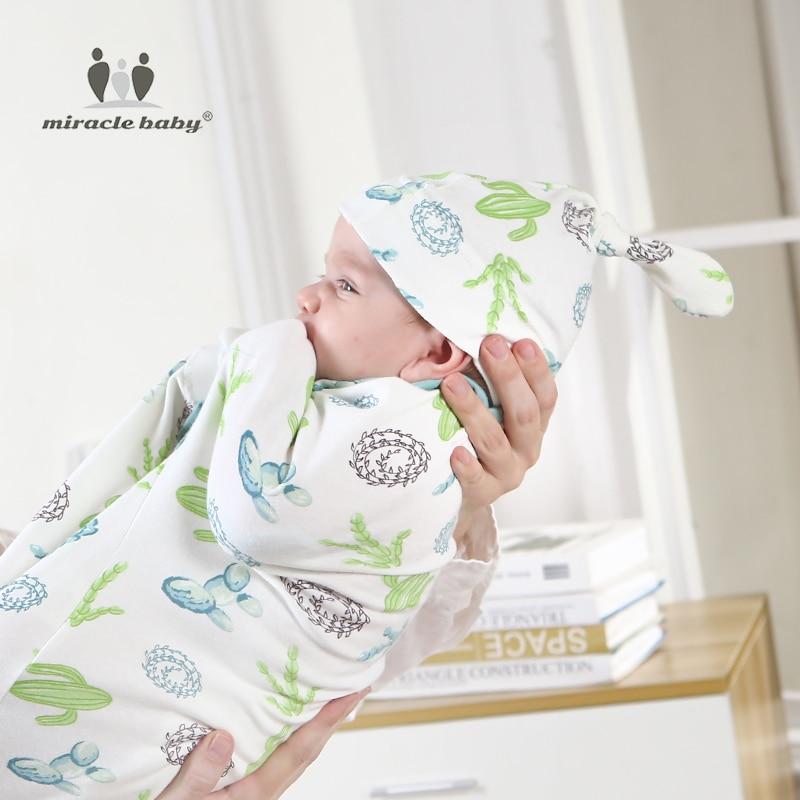 Baby Envelope Swaddle Blanket with Head Cap - Beyond Baby Talk