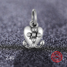 925 Sterling Silver Heart-shaped Shiny Charm Beads Pendant for Pandora Bracelet and Bracelet Jewelry DIY Accessories Wholesale vitas pan sterling silver beaded jewelry heart shaped green beads classic finished diy bracelet fashion korean style