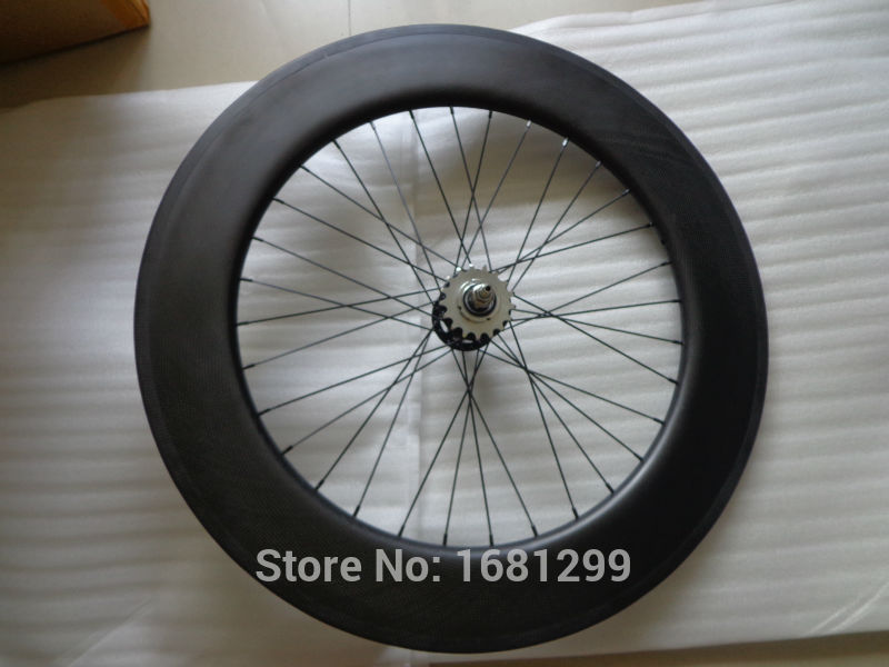 1pcs New 700C 88mm tubular rims Fixed Gear Track Road bike 3K UD 12K full carbon bicycle wheelsets aero spokes skewers Free ship carbon wheels 700c 88mm depth 25mm bicycle bike rims 3k ud glossy matte road bicycles rims customize carbon rims