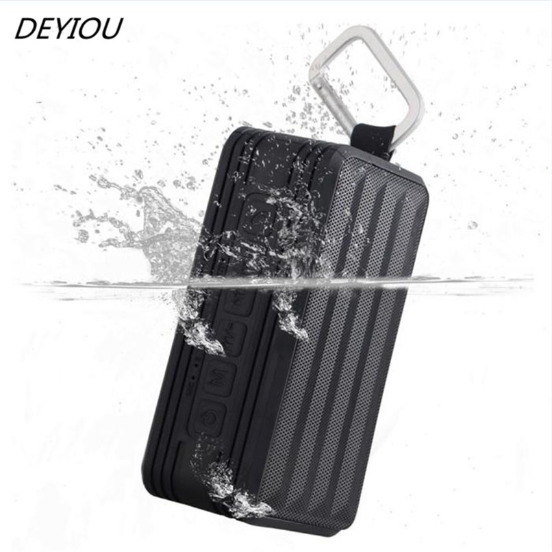 DEYIOU Mini Portable LED Stereo Wireless Bluetooth Speaker for SmartPhone Tablet Free Shipping NOM16
