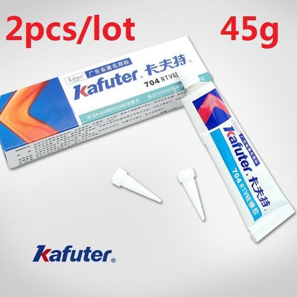 2pcs/lot 45g Kafuter Silicone Industrial Adhesive 704 RTV Silicone Rubber White Glue