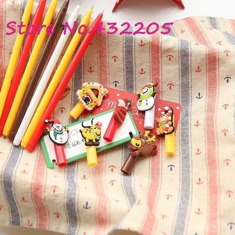 Calcetines de Navidad Santa Claus Elk muñeco de nieve Año nuevo Festival pluma herramientas estudiante escuela suministros fiesta creativa regalos de amigo