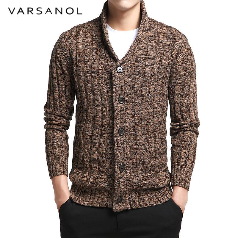 WAYA Mens V-Neck Long Sleeve Solid Slim Fit Knit Sweater Pullover