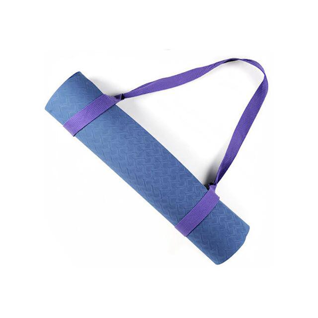 Adjustable Yoga Mat Belts Yoga Mat Shoulder Carrier Yoga Straps Exercise Stretch Yoga Belts Fitness Gym Sports Rope 165cm*3.8cm