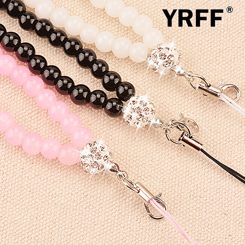 YRFF Phone Lanyard Rope, Fashion Sling Pearl fashion mobile phone straps lanyard accessories phone Camera Universal Lanyard Rope