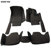 SUNNY FOX Custom fit Right hand drive car floor mats for BMW 3 series E46 E90 E91 E92 E93 F30 F31 F34 GT car styling carpet