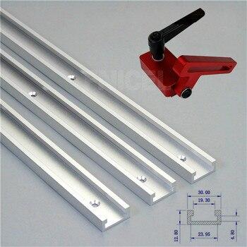 Liga de alumínio T-Ranhura da pista Pista Jig Fixação T-Slot Mitra E Acompanhar a Parar para Carpinteiro Manual Do Roteador tabela de Ferramentas Para Trabalhar Madeira