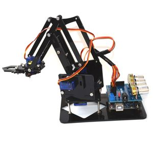 DIY Acrylic Robot Arm Robot Claw for Arduino Kit 4DOF Toys Mechanical Grab Manipulator Tools