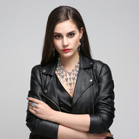 Skull Crystal Cross Pendant Collar Choker Layered Necklaces Party Jewelry Accessories Perfume Women Parfum