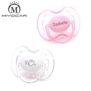 Image 5 - MIYOCAR kişiselleştirilmiş herhangi bir isim yapabilir 2 adet emzik kukla benzersiz hediye bebek özel emzik