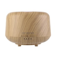 Essential Oil Diffuser 250ml Aromatherapy Diffuser With Wood Grain Zen Style Cool Mist And 7 Colors