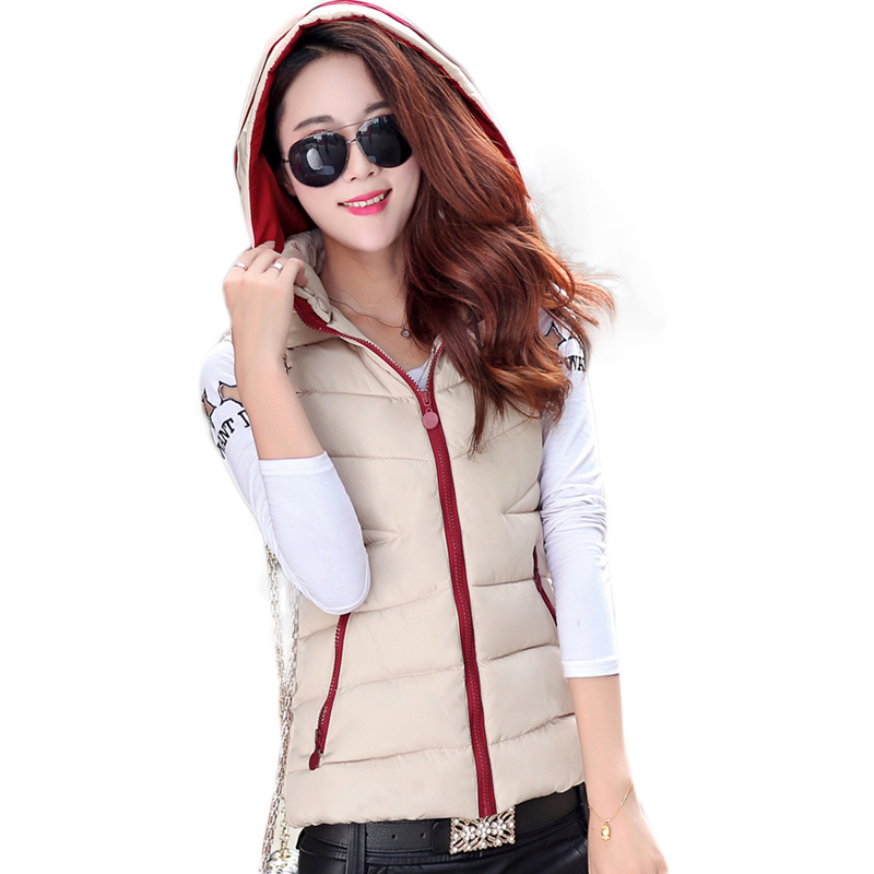 Zip up hooded puffer vests for women plus size winter warm quilted ... : cheap quilted vest - Adamdwight.com