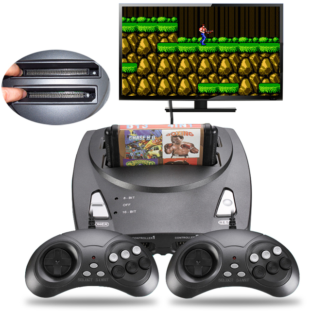 TV Video Game Console 2 In 1 16 Bit And 8 Dual System For NES SEGA Genesis MD Original Card