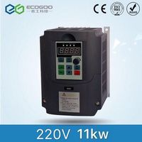 11KW 400HZ VFD Inverter Frequency converter single phase 220v input 3phase 380v output 25A for 10HP motor
