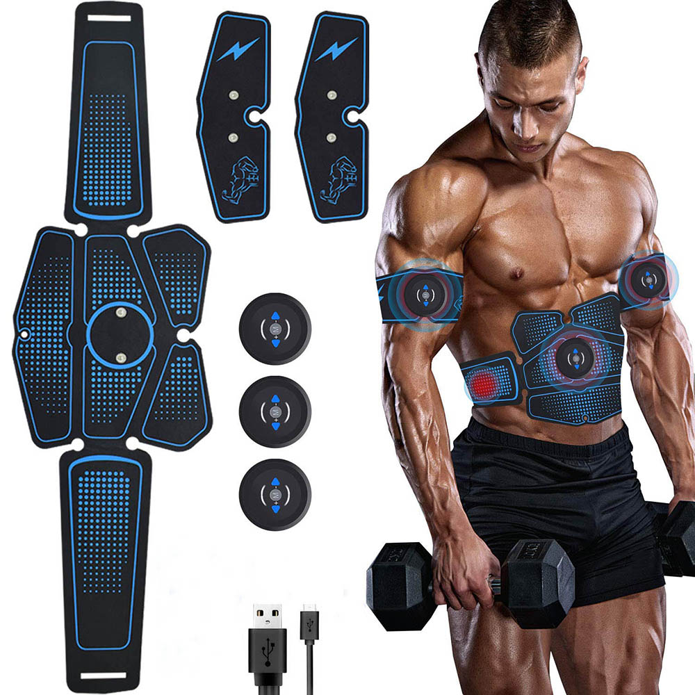 Rechargeable Ems Abdominal Muscle Stimulator Exerciser Muscles Electrostimulator Electro Loss Weight Slimming Training Massager