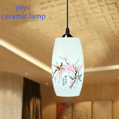 Led E27 90 260v Ceramic Two Birds Pendant Light Living Room Dining Porcelain Lighting Fixtures