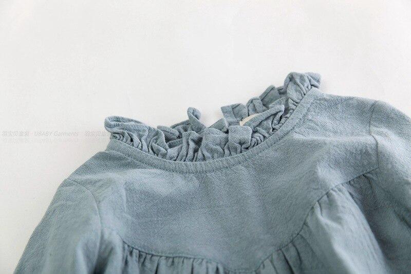 Mazumtirdzniecības bērnu meiteņu pavasara kokvilnas un lina kleita - Bērnu apģērbi - Foto 3
