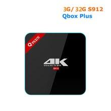 [Wechip] Q плюс Android TV Box 2 г + 16 г/3 г + 32 г S912 TV Box 4 К Восьмиядерный cortex-A53 media player 1000 м LAN лучше, чем h96 Pro Plus