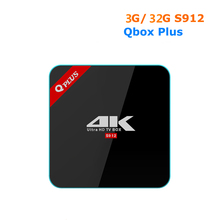 [WeChip] Q Plus android tv box 6.0 2G + 16G/3G + 32G S912 4 K Octa-core 2.4G + 5 3gwifi + BT mieux que h96pro + x92 x98pro tv box
