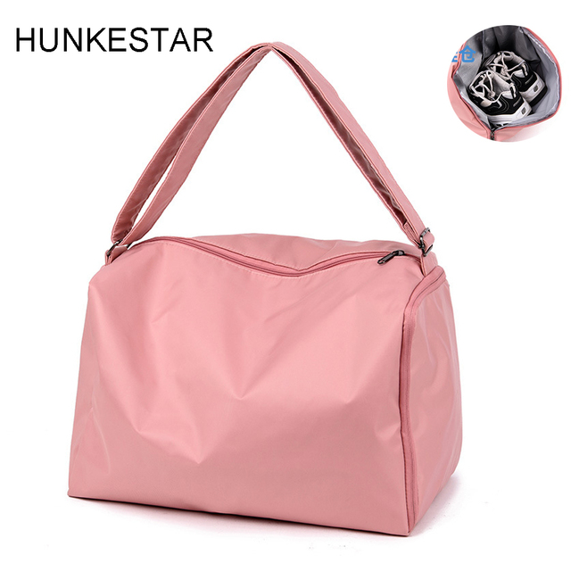aad54780959e05 Cheap 2019 new Black Pink Gray Sport Bag for Women Fitness Nylon Waterproof  for Traveling Yoga Training Gym ...