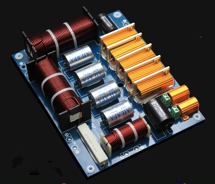 bilder für 1 stücke HALLO-FI 3 way frequenz teiler crossover hochtöner dual woofer 1800 Watt für Kasun 15-18 zoll lautsprecher KTV Bühne Lautsprecher MKP
