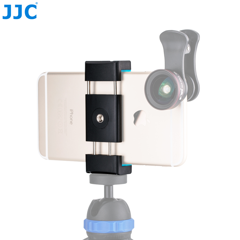 JJC Smart Phone Stand 56-105mm Adjustable Clip Selfie Stick Mini Tripod Mount Phones Holder for iPhone/HUAWEI/MI/Samsung