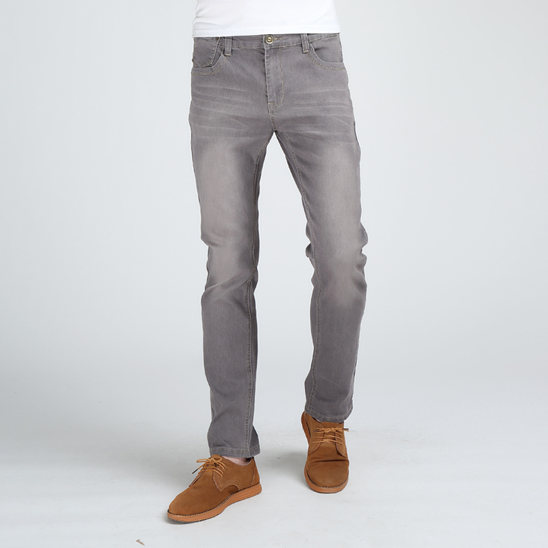 Brother Wang Men's Slim Jeans Fashion High Elastic MaleTighten Solid Brand Casual Skinny Jeans 1